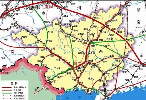 至2015年,广西主要城市间将全部开行高速动车组图片